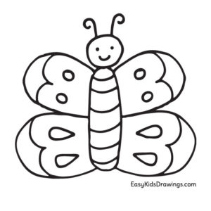 Butterfly Coloring Page for Preschool Kids